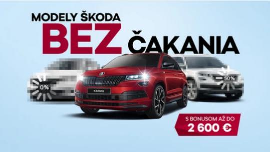 Nové auto BEZ ČAKANIA